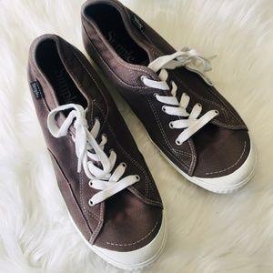 SIMPLE Sneakers Tennis Shoes Men's 11.5 Gray Brown